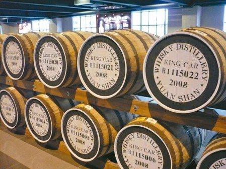 金車集團董事長李添財要一圓多年的釀啤酒夢。圖為蘇格蘭原裝進口蒸餾器。 報系資料照