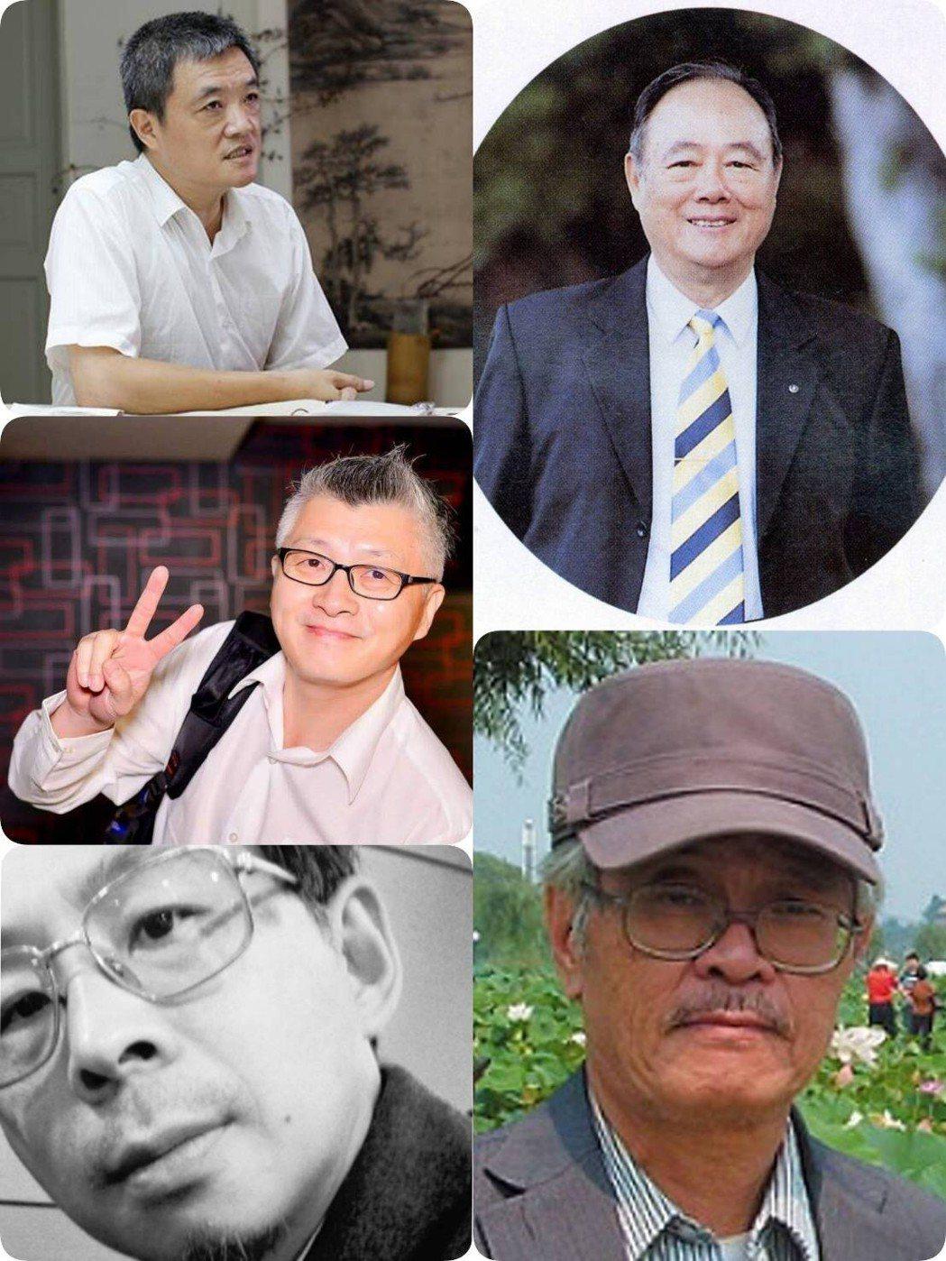 (左上圖)為吳士偉教授、(左中圖)為葉大銘老師、(左下圖)為陶文岳教授、(右上圖...