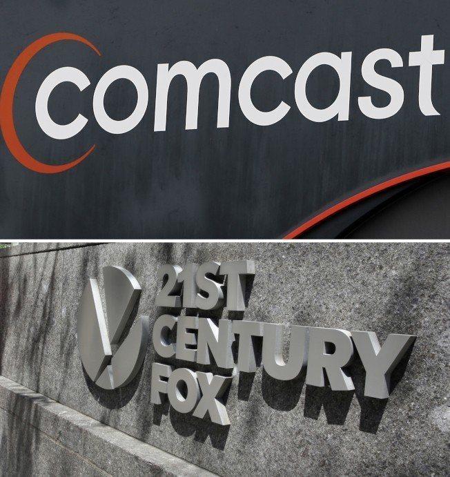 康卡斯特出價收購時代華納,媒體類股推升那指收歷史新高。(美聯社)