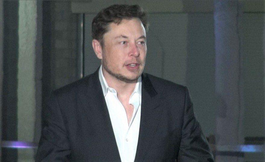 馬斯克14日在芝加哥說明「芝加哥快車」的工程計畫。(特派員黃惠玲/攝影)