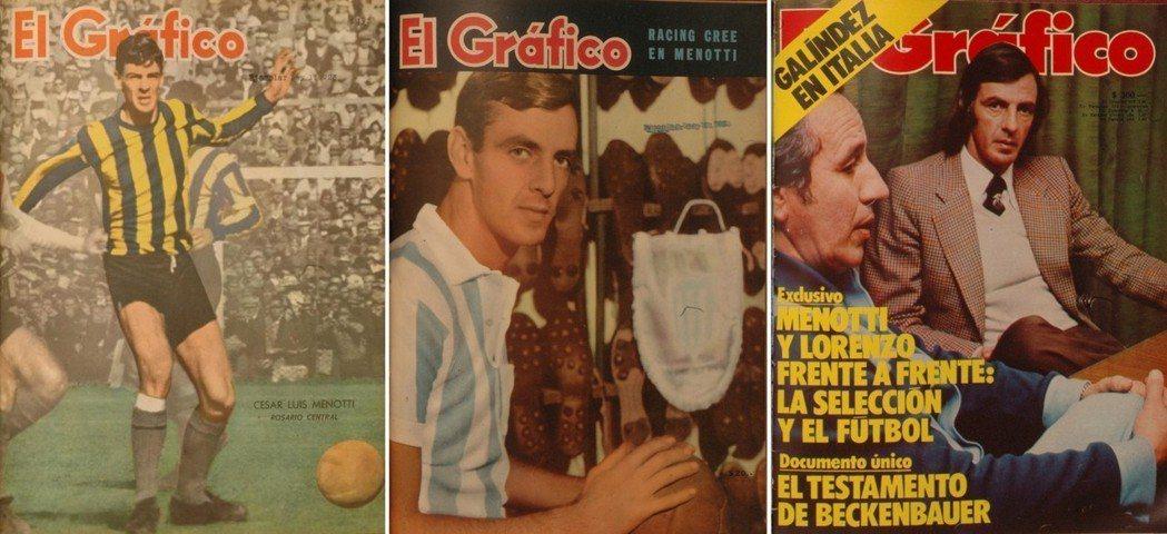 《畫報》上的梅諾蒂封面演進,從羅薩里奧中央隊、競技隊、到國家隊主帥。