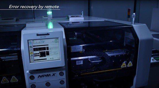 圖2:Panasonic的生產設備可以自動預測異常狀況,並在發生前就從遠端加以修...
