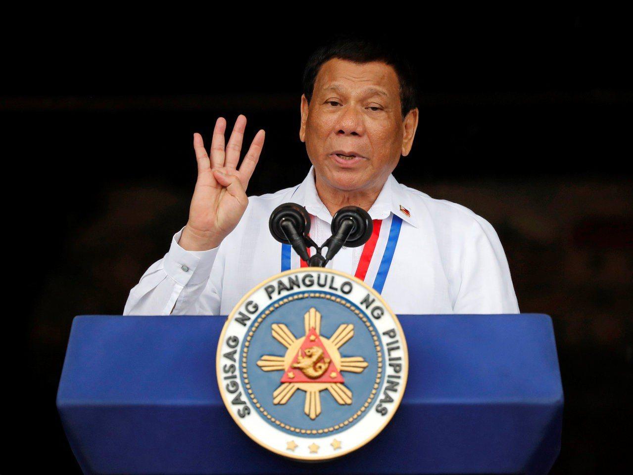 菲律賓總統杜特蒂。路透