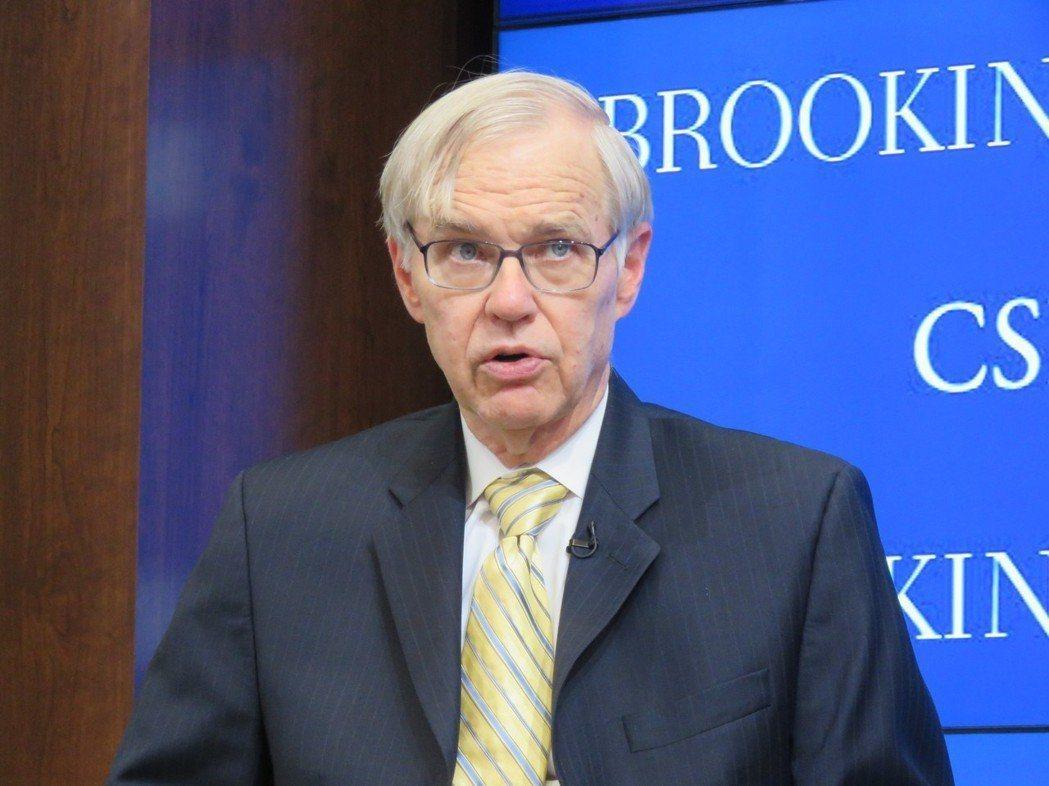 美國在台協會(AIT)前理事主席卜睿哲日前在智庫「布魯金斯研究所」一場研討會談論...
