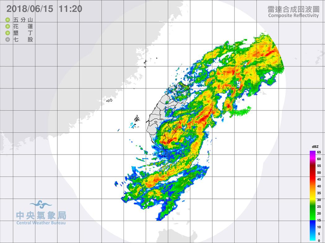 豪雨不斷。圖/翻攝自氣象局網站