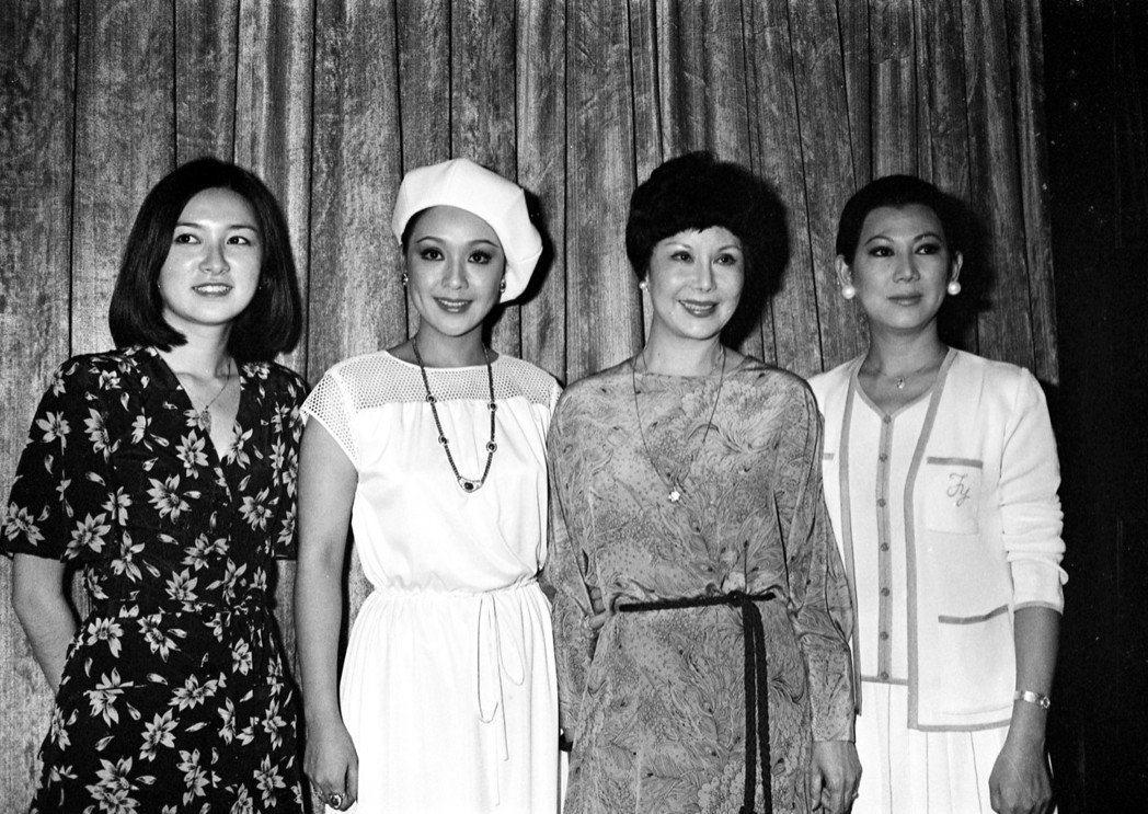 周芝明(左起)、李菁、李麗華、凌波主演「新紅樓夢」。圖/報系資料照片