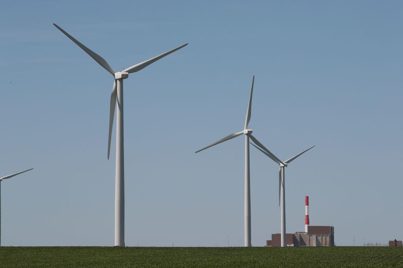 風力發電機組。法新社