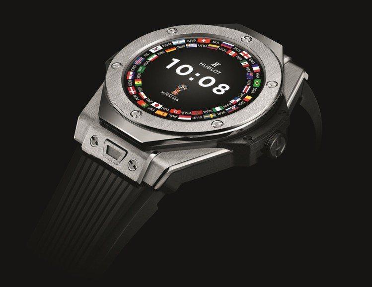 宇舶BIG BANG 2018世足賽官方腕表,49毫米鈦金屬表殼、附一條2018...