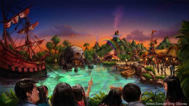 彼得潘主題樂園。圖/摘自東京迪士尼官網