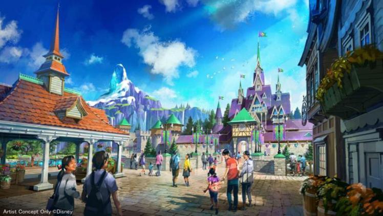 冰雪奇緣主題園區模擬圖。圖/摘自東京迪士尼官網