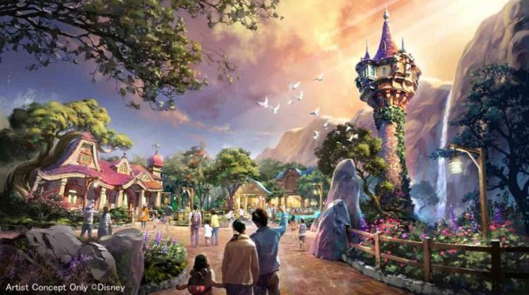 魔髮奇緣主題園區。圖/摘自東京迪士尼官網