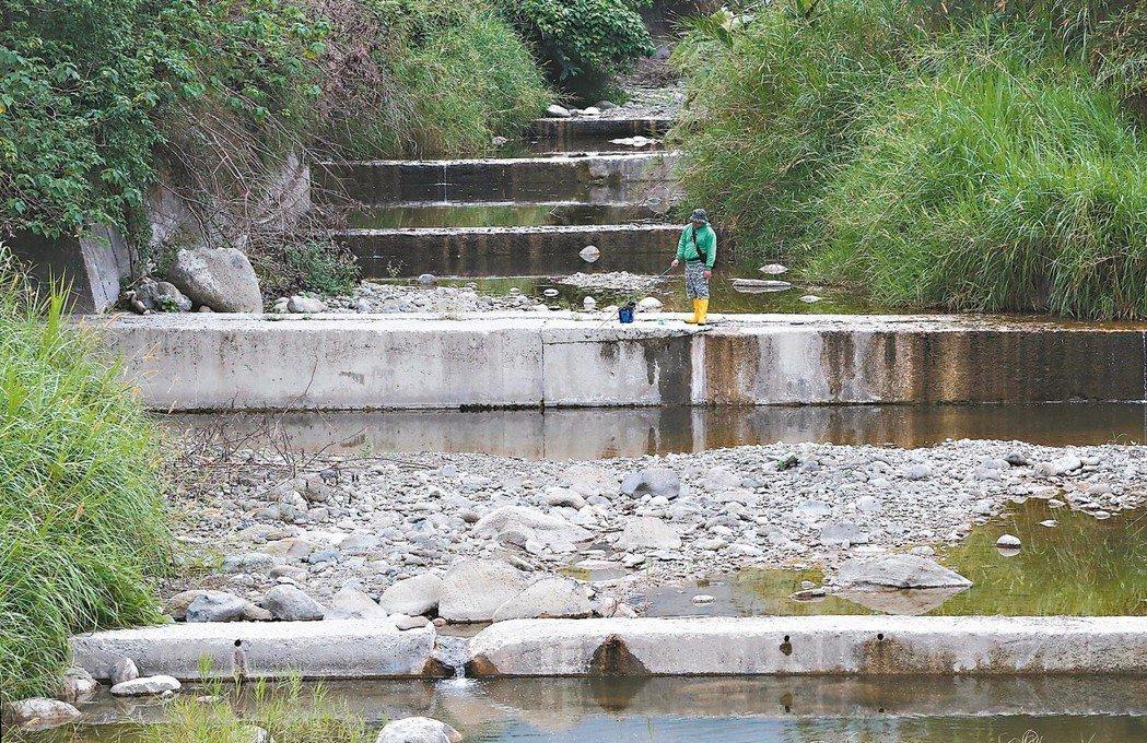 遍布山林的野溪經人工整治、蓋上水泥護岸和固床工,自然蜿蜒的溪流變成筆直的水泥階梯...