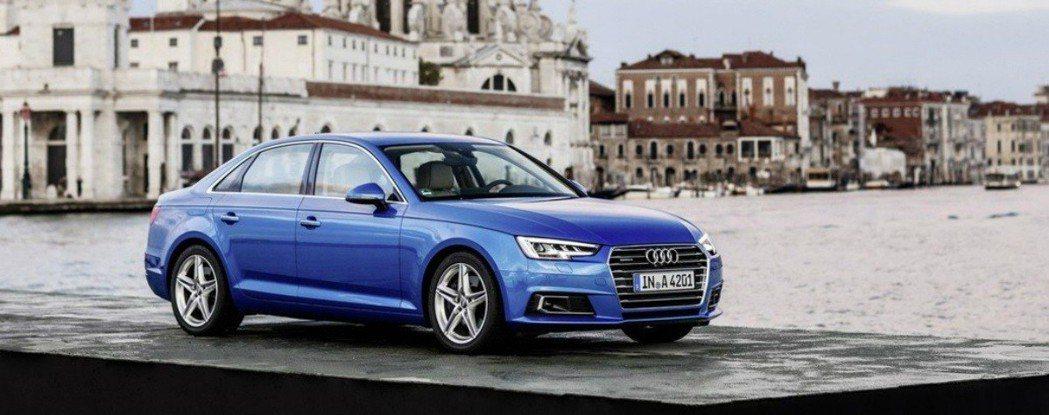 現行款Audi A4 。 摘自Audi