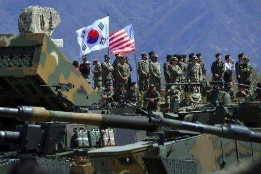美韓聯合軍演可能將無限期暫停。路透