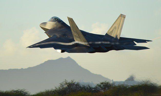 圖為F-22戰鬥機。路透