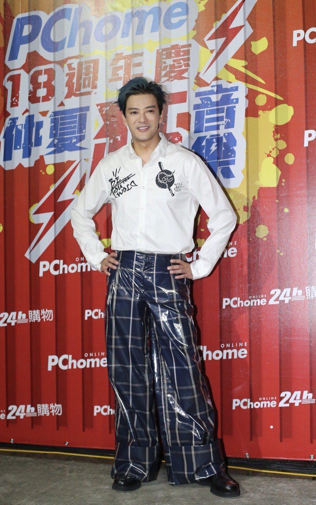 陳曉東16日出席網購平台活動。記者許正宏/攝影