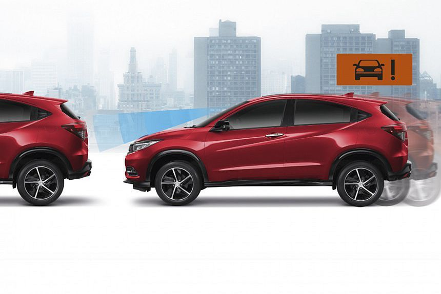 泰規小改款Honda HR-V首見的CBAS都會安全自動剎車系統,不僅只具備前方車輛偵測,同時作動時速也只有5-30km/h。 圖/Honda提供