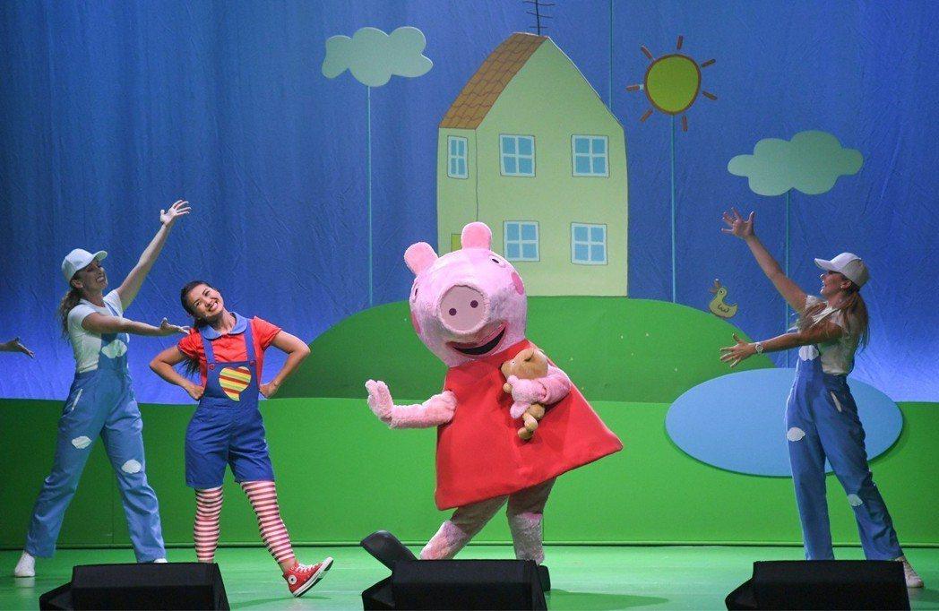 佩佩豬吸引小朋友目光。圖/華研提供