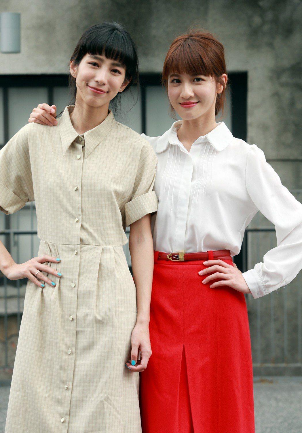 温貞菱(左)、連俞涵合作「奇蹟的女兒」。記者徐兆玄/攝影