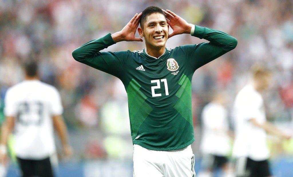 墨西哥以1:0獲勝,中止德國在世界盃的5連勝,以及連續7屆首戰奪勝紀錄。 美聯社