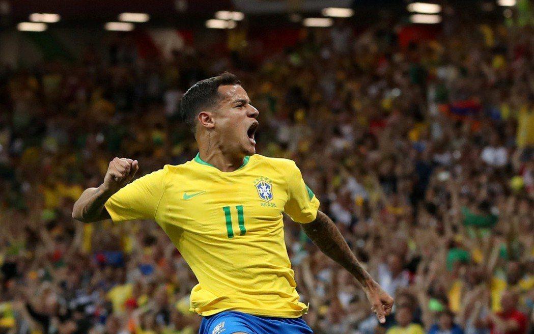 庫蒂尼奧(Philippe Coutinho)。 路透
