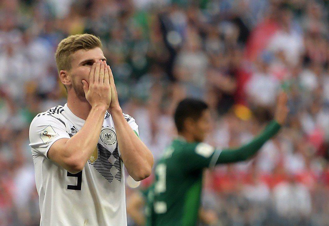 德國隊維爾納(Timo Werner)近況低迷,對這場比賽的表現不敢置信。 歐新...