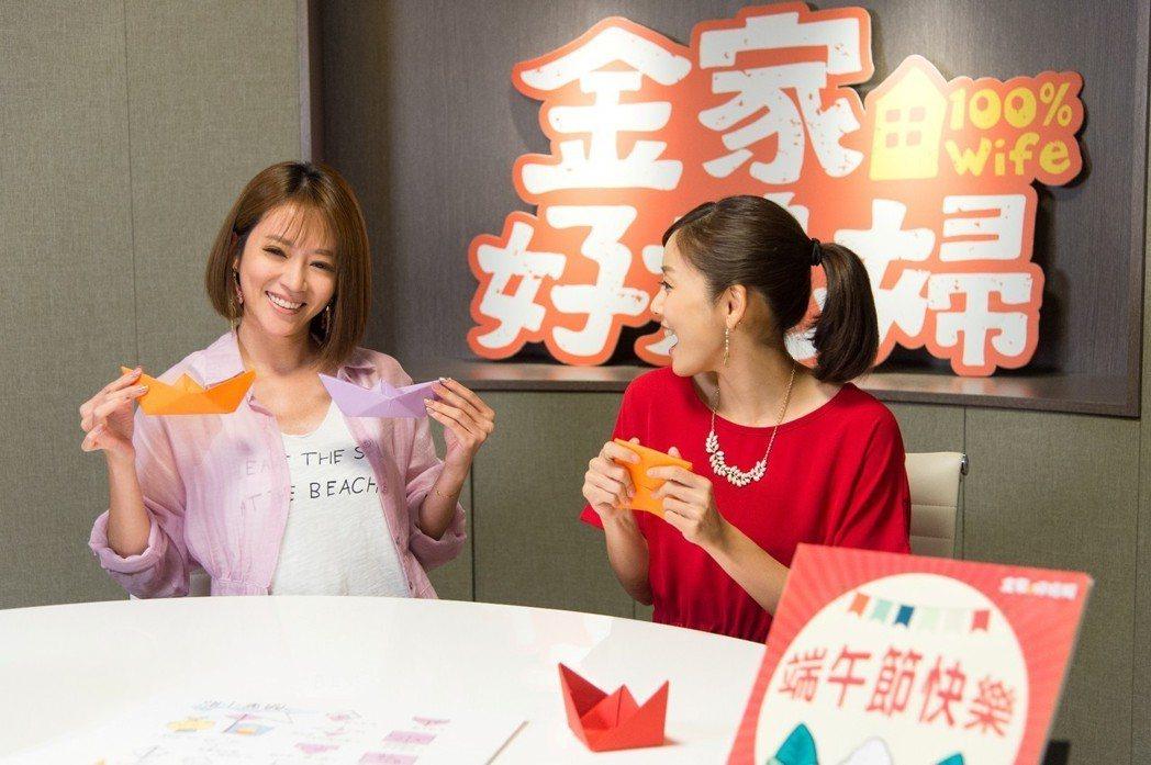 高宇蓁(左)、張靜之演出「金家好媳婦」鬥智不相上下,竟還意外發現是同鄉。圖/三立