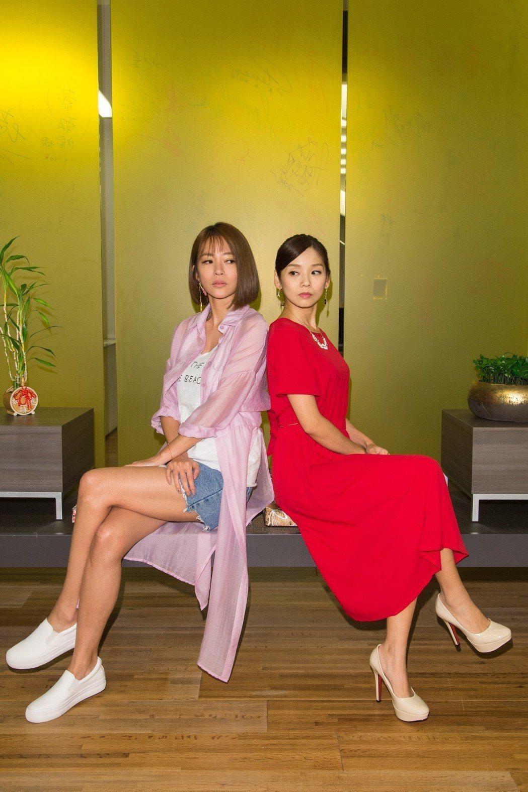高宇蓁(左)、張靜之演出「金家好媳婦」,端午節正宮、小三比智商。圖/三立提供