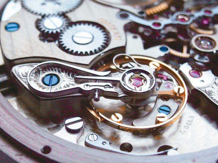 高級機芯常採用砝碼微調擺輪系統。 圖/曾士昕提供
