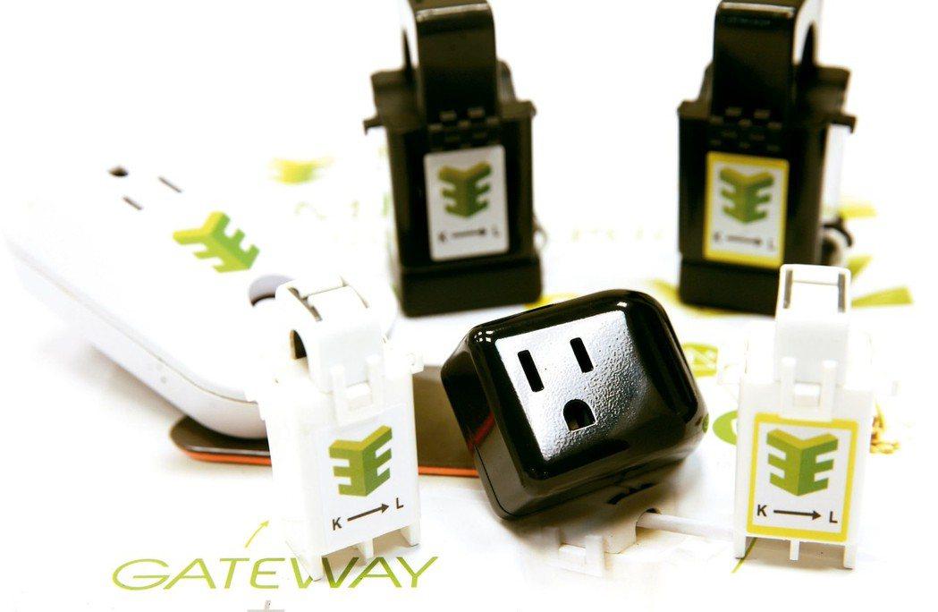 展綠科技的產品智慧電表與智慧插座。