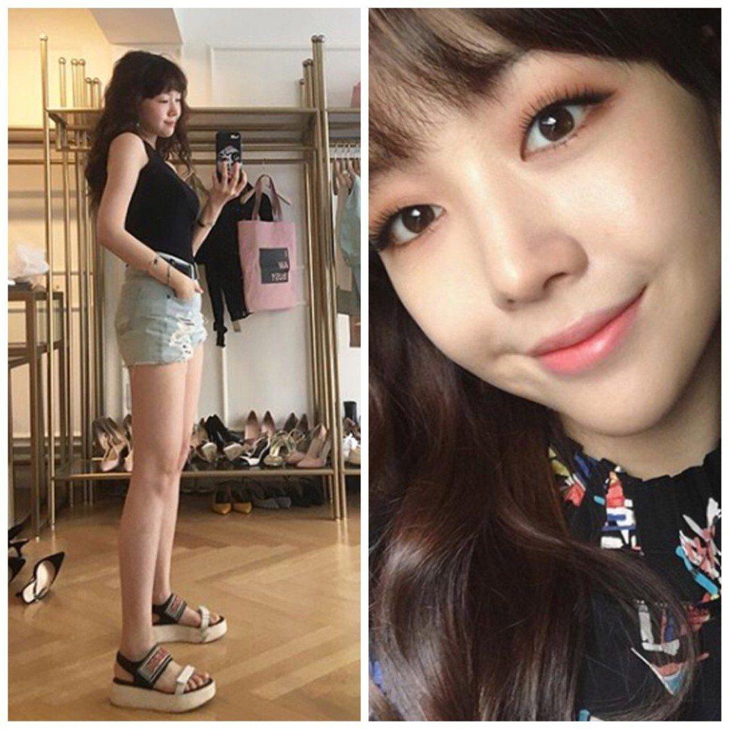 孫興慜的前女友方珉雅。圖/Instagram