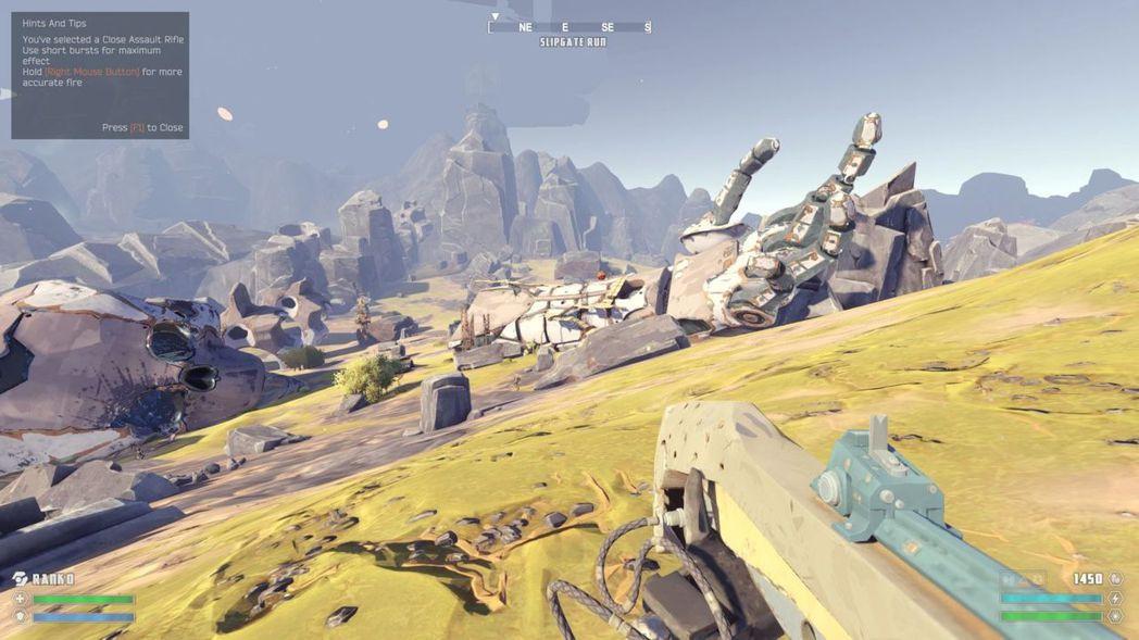 ▲橫躺在平原上的超巨大機器人屍體,很難想像這裡以前究竟發生過什麼事。