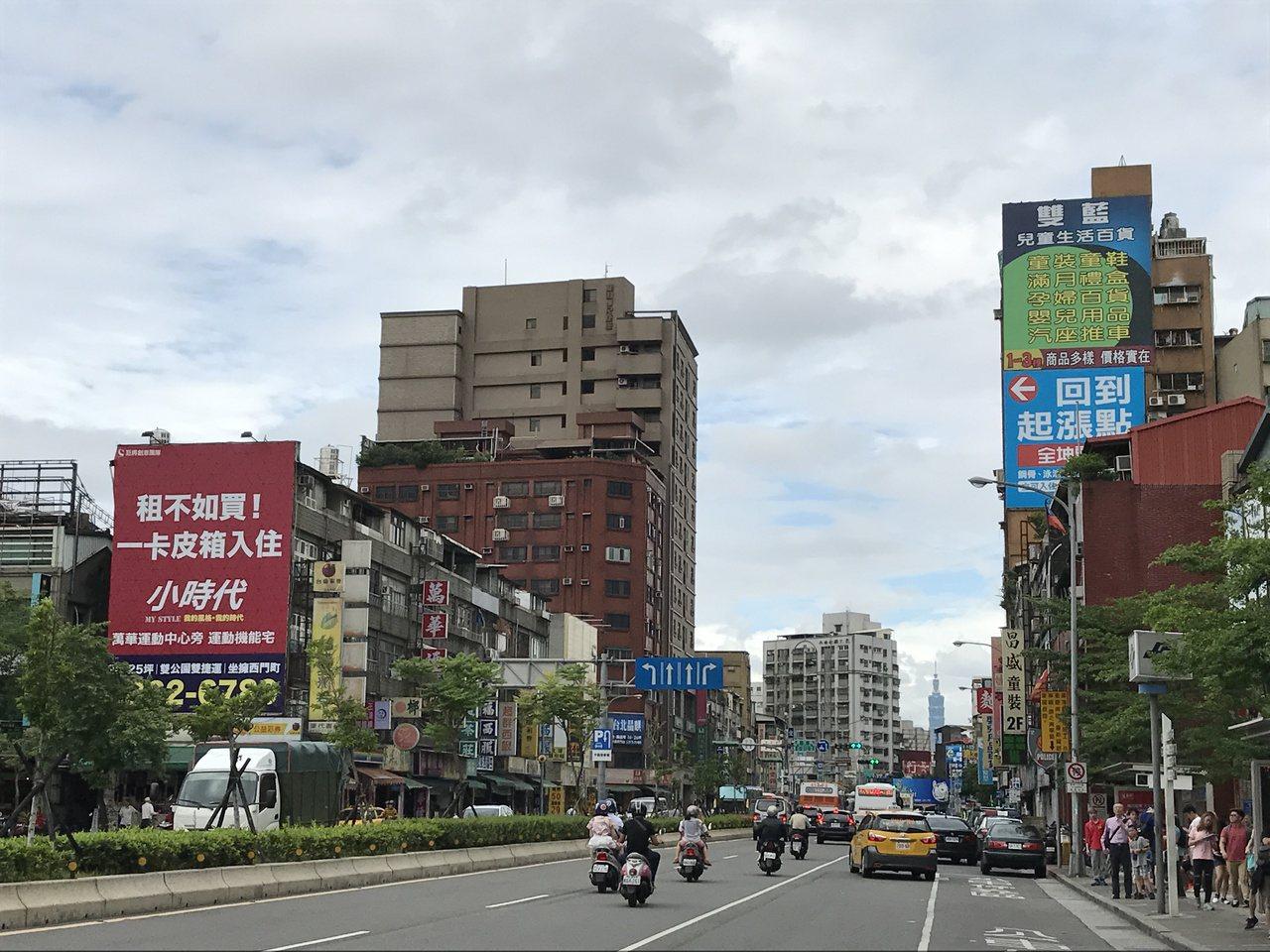 萬華區交易總價連續五年全市最低。 記者游智文/攝影