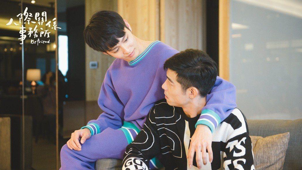 曹佑寧(左)、王柏傑互動惹腐女遐想。圖/歐銻銻娛樂提供
