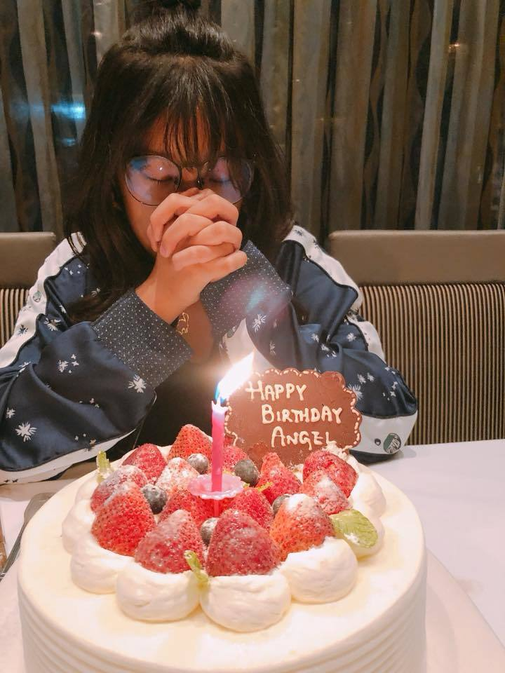 「梧桐妹」Angel慶祝13歲生日。圖/摘自臉書