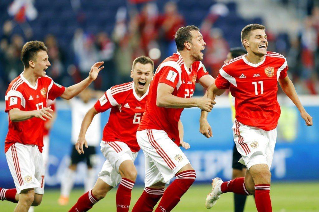 兩戰狂進8球,可能沒有人想到俄羅斯居然會是本屆世足火力最旺的球隊! 美聯社