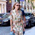 不太穿印花洋裝的Gigi Hadid 一出手就用3配件搭出新鮮感