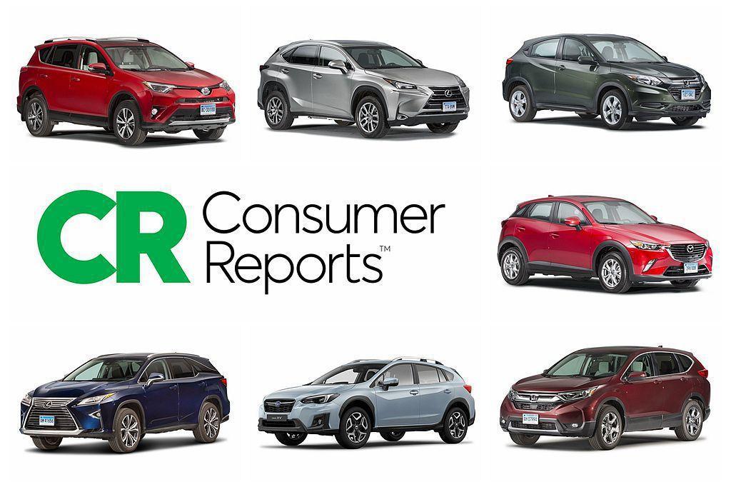 美國新車測試權威消費者報告《Consumer Reports》,日前公布10款熱銷休旅油耗成績排名,台灣市場可買到當中的7輛車。 圖/Consumer Reports提供