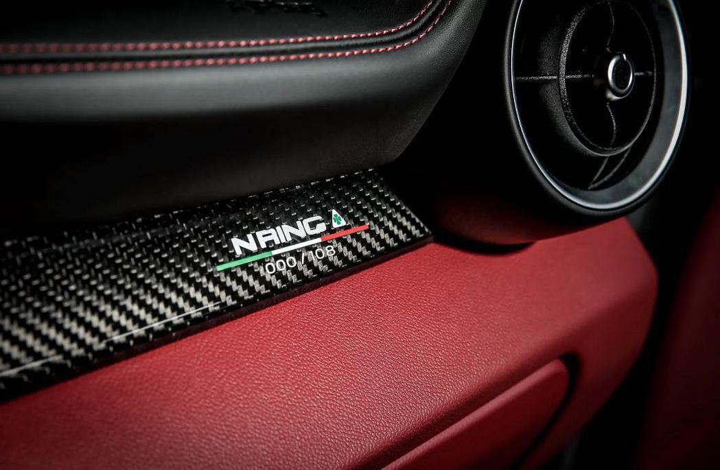 每一台NRing裡都會有限量的銘牌。 摘自Alfa Romeo