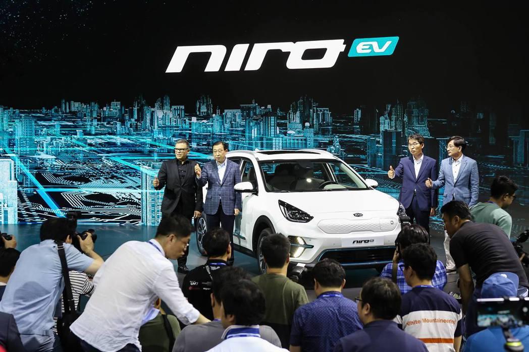 Kia第二款純電休旅Niro EV正是於2018釜山車展中發表。 摘自Kia