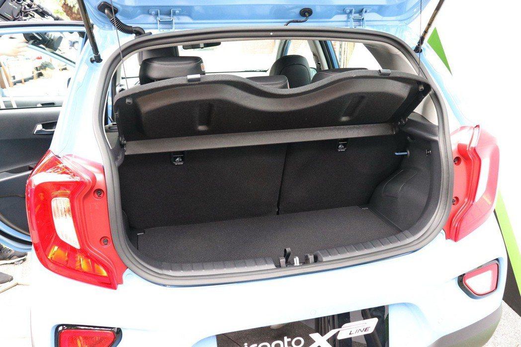 Picanto X-Line的後車箱在一般狀態下,可以滿足基本載物機能。 記者陳...