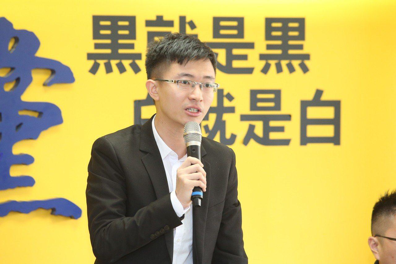 新黨青年軍侯漢廷當選台北市議員。聯合報系資料照/記者余承翰攝影