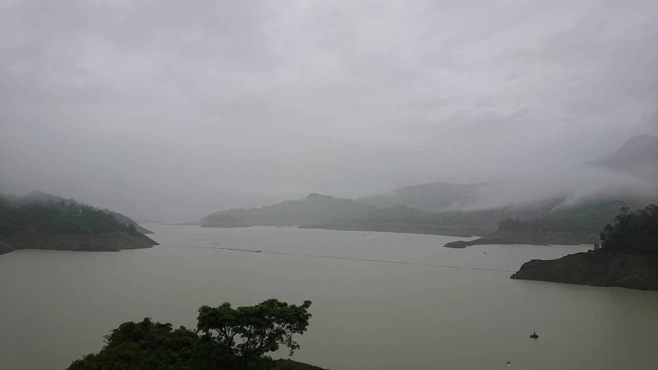 曾文、烏山頭水庫累積降雨量共350毫米。記者綦守鈺/攝影