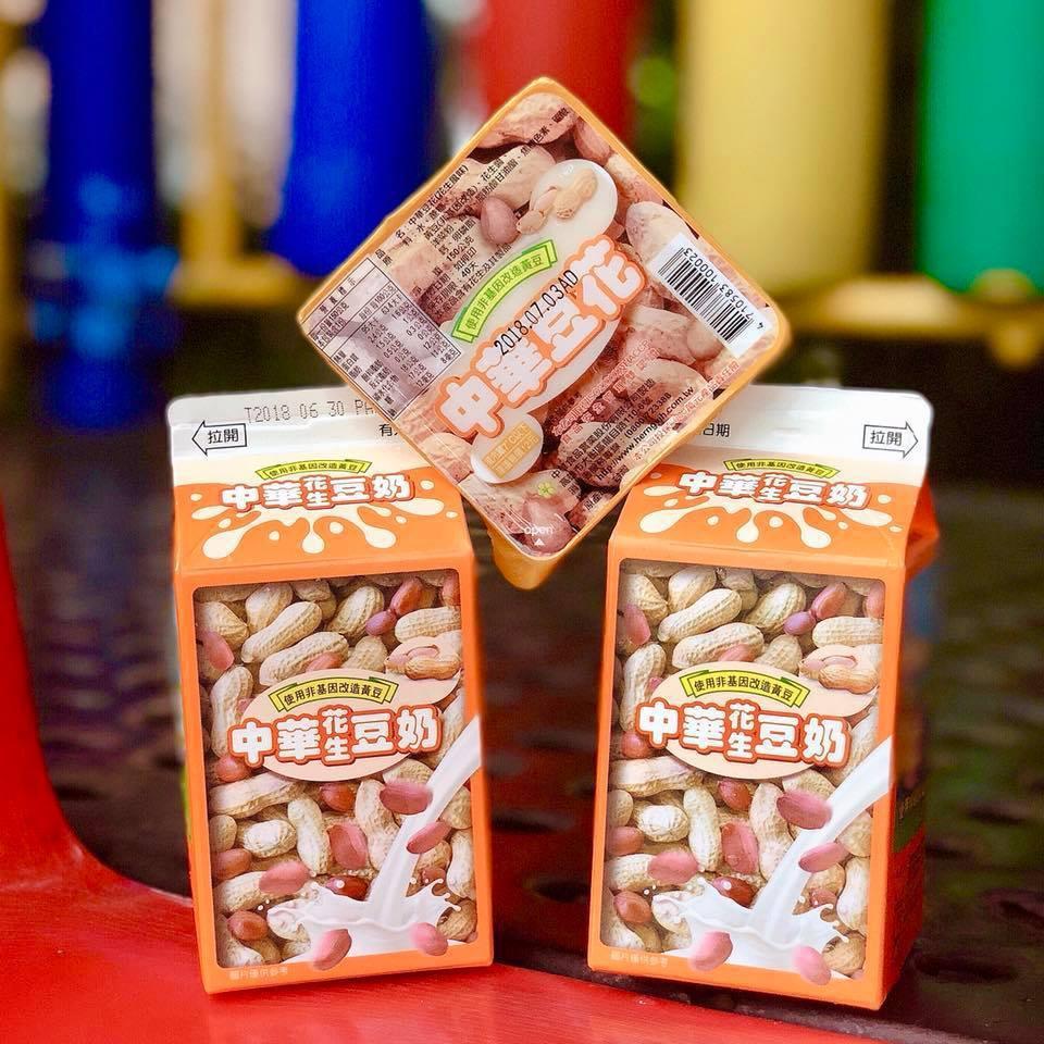 中華花生豆奶,每罐25元,6月20日起加5元送中華豆花。圖/摘自全家官方粉絲團