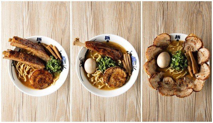 武骨相傳店將推出三款不同的肉食系拉麵。圖/麵屋武藏提供