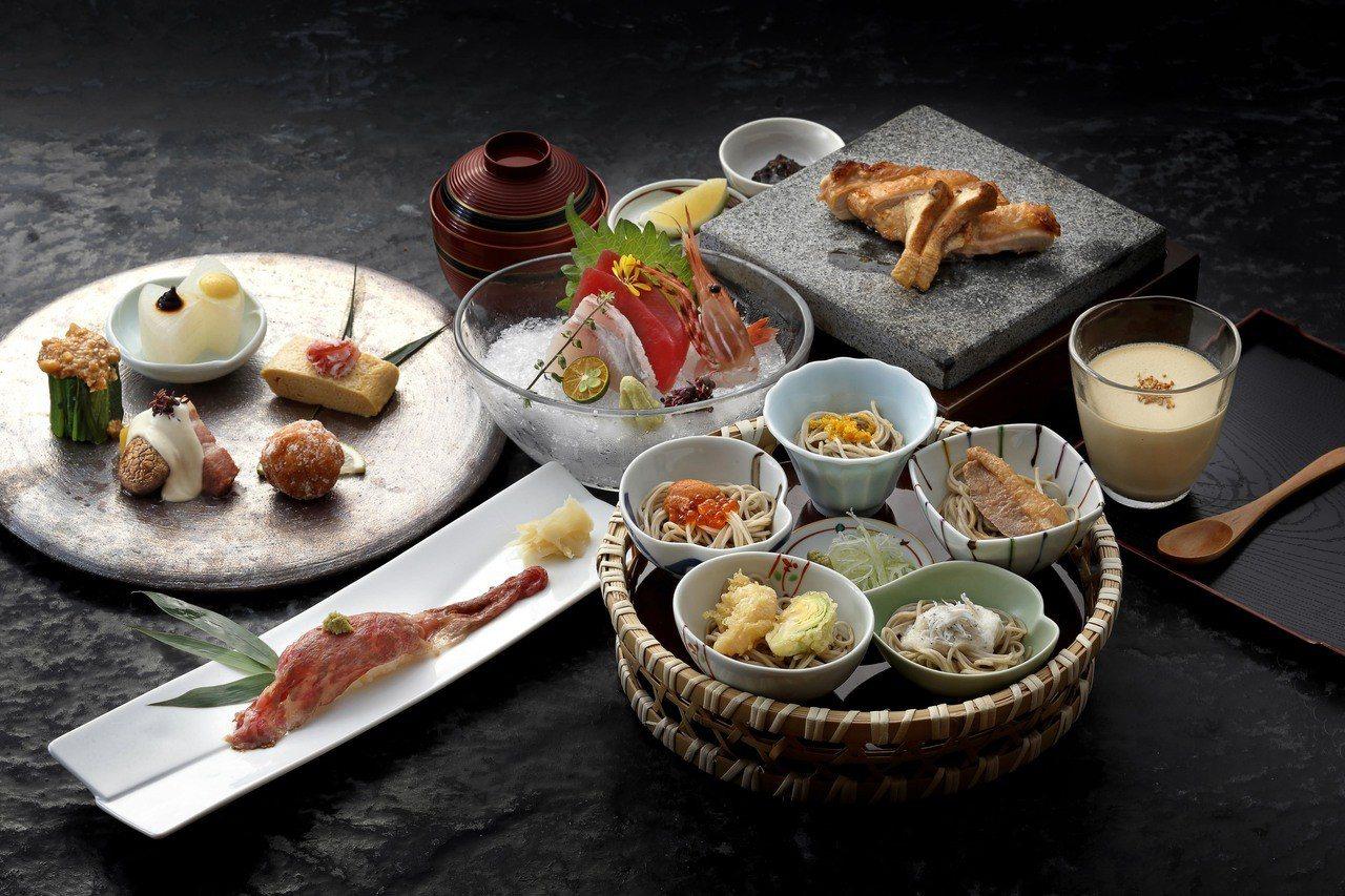 菜な(nana)蕎麥宴席套餐。圖/微風提供