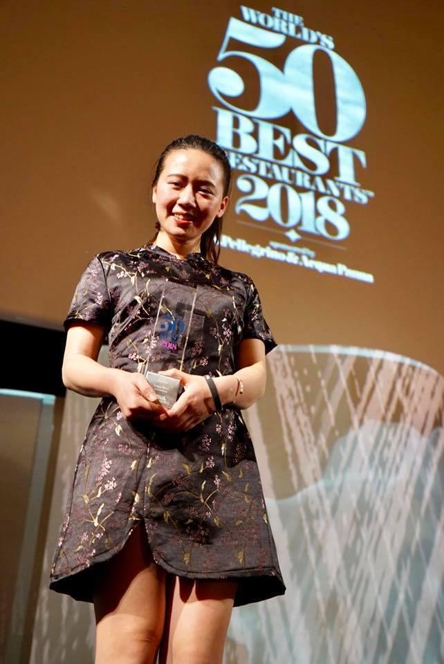 「世界50最佳餐廳」首度提供的BBVA獎學金,得主為來自台灣、年僅24歲的劉詩絜...