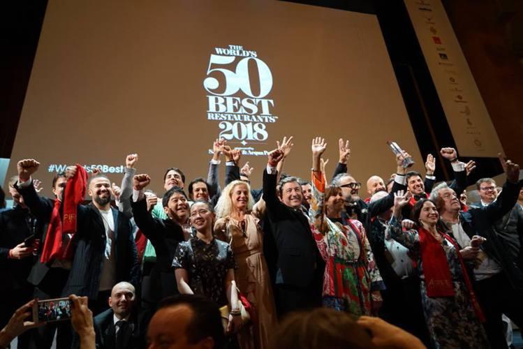 「2018世界50最佳餐廳」在西班牙畢爾包舉行。圖/Liz高琹雯提供