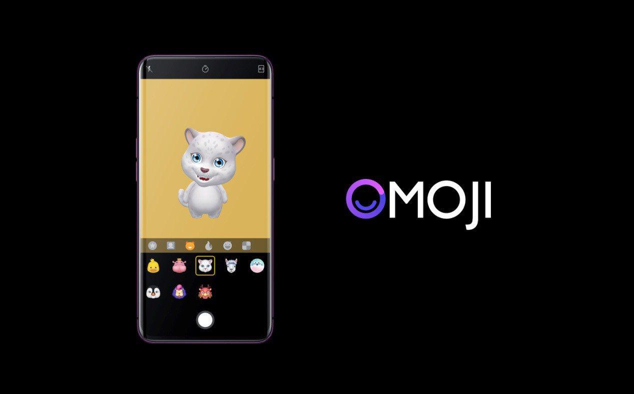 OPPO Find X可製作Omoji 3D表情,並儲存為影片或Gif表情包。圖...