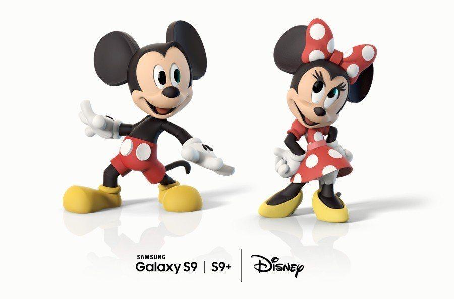 Samsung Galaxy S9、S9+與迪士尼攜手合作,將經典卡通人物化身為...